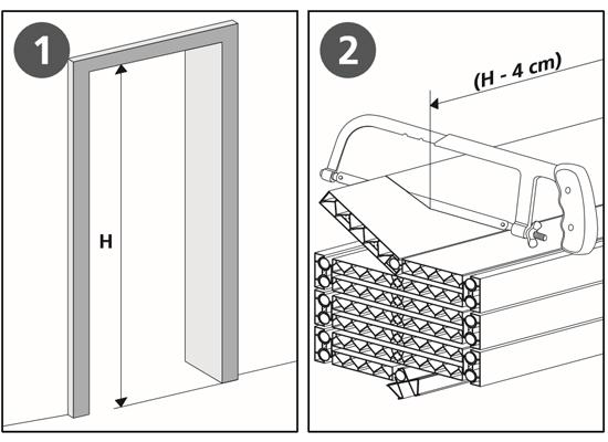 Come installare porte a soffietto su misura fai da te - Montaggio porta a libro ...